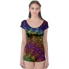 Fractal Art Design Colorful Boyleg Leotard
