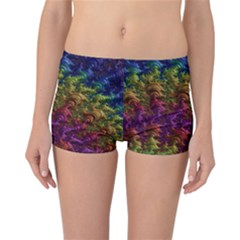 Fractal Art Design Colorful Reversible Bikini Bottoms