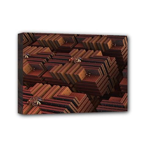 Fractal 3d Render Futuristic Mini Canvas 7  x 5