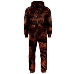 Fractal 3d Render Futuristic Hooded Jumpsuit (Men)