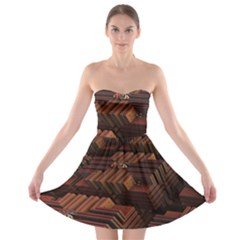 Fractal 3d Render Futuristic Strapless Bra Top Dress