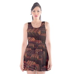 Fractal 3d Render Futuristic Scoop Neck Skater Dress