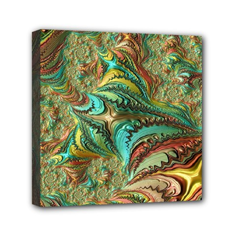 Fractal Artwork Pattern Digital Mini Canvas 6  x 6