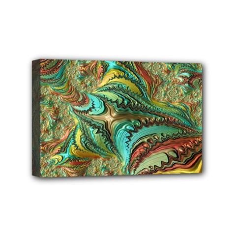 Fractal Artwork Pattern Digital Mini Canvas 6  x 4