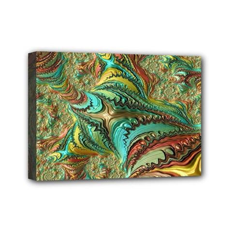 Fractal Artwork Pattern Digital Mini Canvas 7  x 5