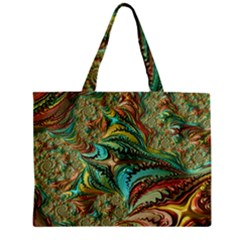 Fractal Artwork Pattern Digital Zipper Mini Tote Bag