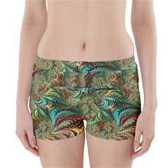 Fractal Artwork Pattern Digital Boyleg Bikini Wrap Bottoms