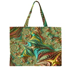 Fractal Artwork Pattern Digital Large Tote Bag