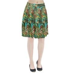 Fractal Artwork Pattern Digital Pleated Skirt