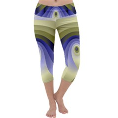 Fractal Eye Fantasy Digital Capri Yoga Leggings