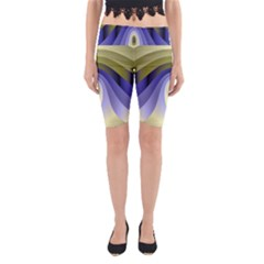 Fractal Eye Fantasy Digital Yoga Cropped Leggings