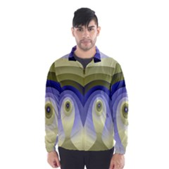 Fractal Eye Fantasy Digital Wind Breaker (men)
