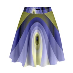 Fractal Eye Fantasy Digital High Waist Skirt