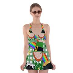 Lucky Irish Halter Swimsuit Dress