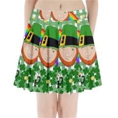 Lucky Irish Pleated Mini Skirt