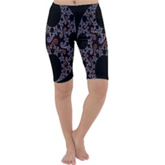 Fractal Complexity Geometric Cropped Leggings