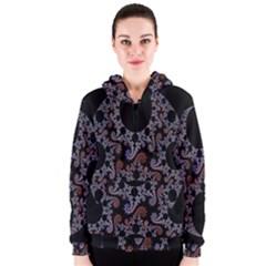 Fractal Complexity Geometric Women s Zipper Hoodie