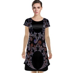 Fractal Complexity Geometric Cap Sleeve Nightdress