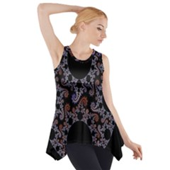 Fractal Complexity Geometric Side Drop Tank Tunic