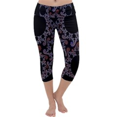 Fractal Complexity Geometric Capri Yoga Leggings