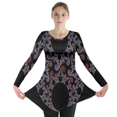 Fractal Complexity Geometric Long Sleeve Tunic