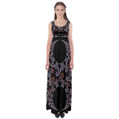 Fractal Complexity Geometric Empire Waist Maxi Dress