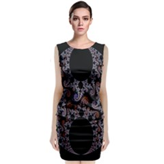 Fractal Complexity Geometric Classic Sleeveless Midi Dress