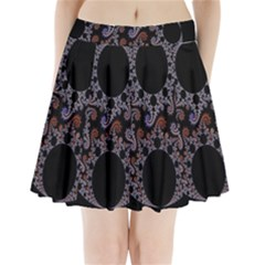 Fractal Complexity Geometric Pleated Mini Skirt