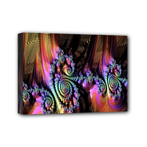 Fractal Colorful Background Mini Canvas 7  x 5