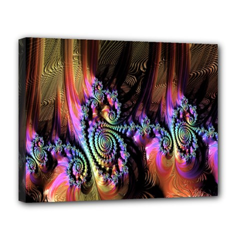 Fractal Colorful Background Canvas 14  x 11