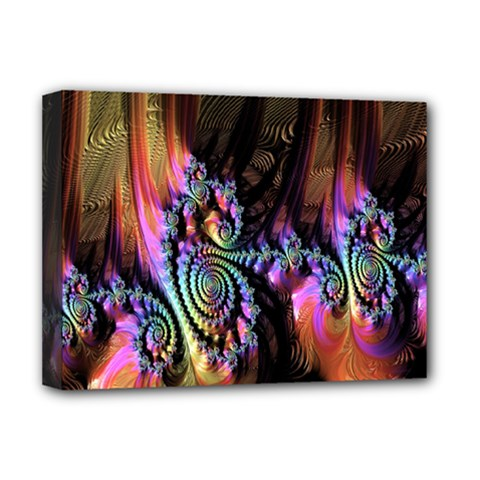 Fractal Colorful Background Deluxe Canvas 16  x 12