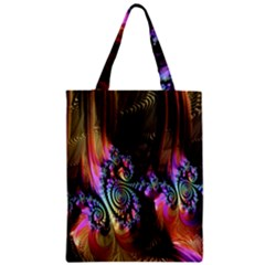 Fractal Colorful Background Zipper Classic Tote Bag