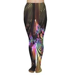 Fractal Colorful Background Women s Tights