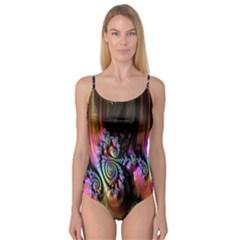 Fractal Colorful Background Camisole Leotard