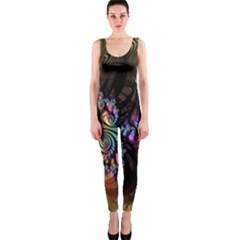 Fractal Colorful Background Onepiece Catsuit