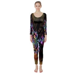 Fractal Colorful Background Long Sleeve Catsuit