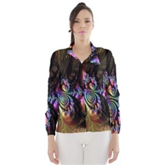 Fractal Colorful Background Wind Breaker (Women)