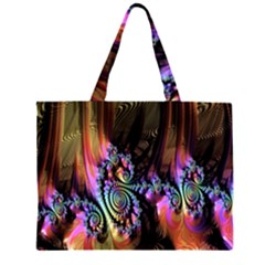 Fractal Colorful Background Large Tote Bag