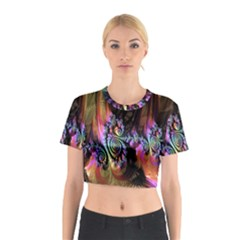 Fractal Colorful Background Cotton Crop Top