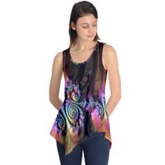 Fractal Colorful Background Sleeveless Tunic