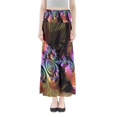 Fractal Colorful Background Maxi Skirts