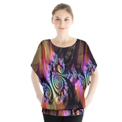Fractal Colorful Background Blouse