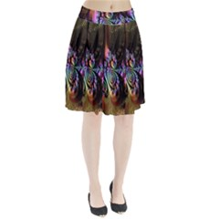 Fractal Colorful Background Pleated Skirt