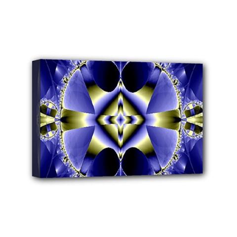 Fractal Fantasy Blue Beauty Mini Canvas 6  x 4