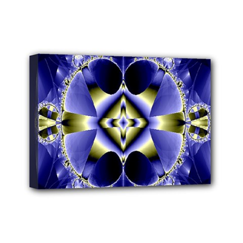 Fractal Fantasy Blue Beauty Mini Canvas 7  x 5