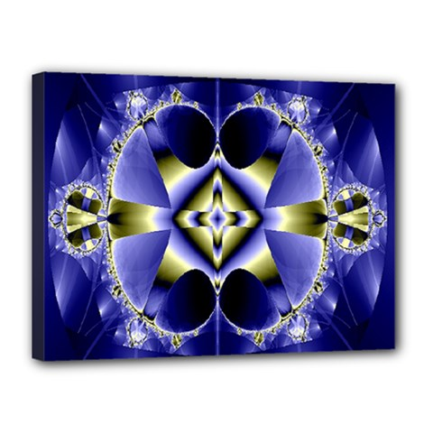 Fractal Fantasy Blue Beauty Canvas 16  x 12