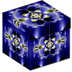 Fractal Fantasy Blue Beauty Storage Stool 12