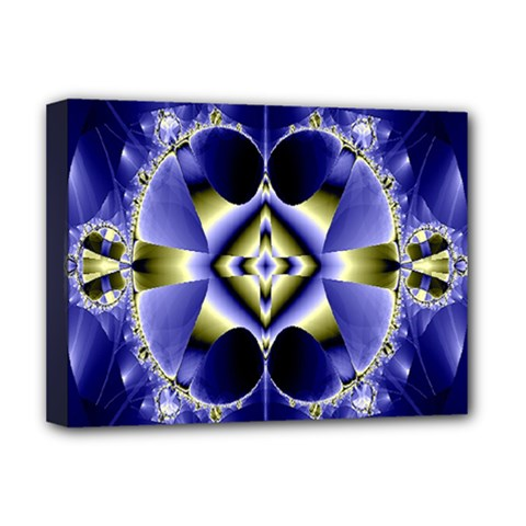 Fractal Fantasy Blue Beauty Deluxe Canvas 16  x 12
