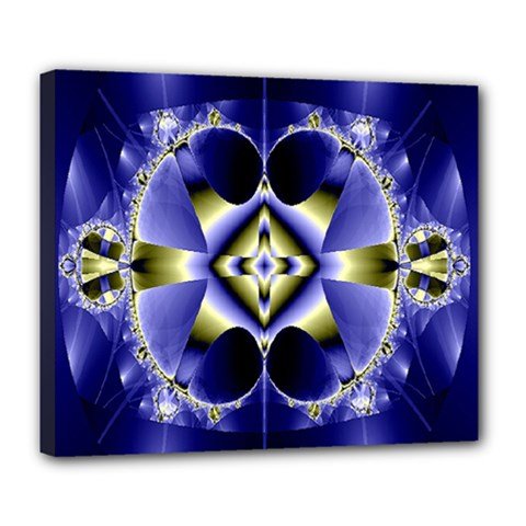 Fractal Fantasy Blue Beauty Deluxe Canvas 24  x 20