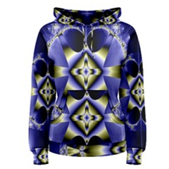 Fractal Fantasy Blue Beauty Women s Pullover Hoodie